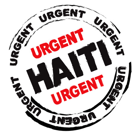 haiti: Urgent ink grunge stamp for Haiti with weather effect