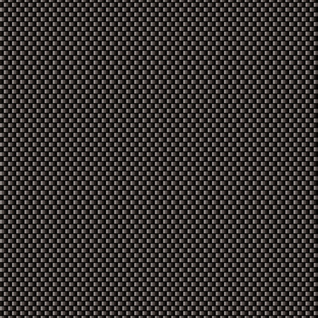 fibers: Black carbon weave background with seamless tile background Illustration