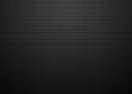 cf: Intreccio di fibra di carbonio con la riflessione della luce e sfondo nero Vettoriali