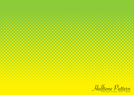 Abstract halftone green and yellow background image with circular pattern Vector