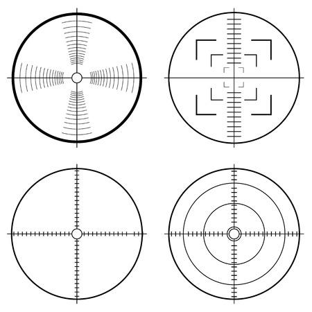 doelstelling: Illustratie van een jacht zicht met doel lijnen en gids te streven Stock Illustratie