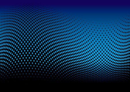 Abstract ocean surf wave with halftone effect and copy space Vector