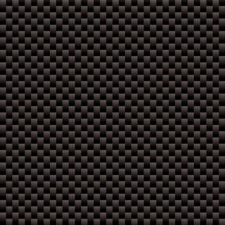 textile industry: Seamless woven carbon fiber illustrated background with repeat pattern texture Stock Photo