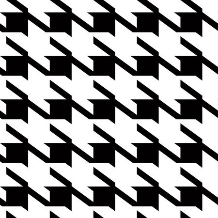Black and white large hounds tooth seamless repeating material pattern photo