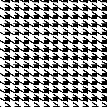 Black and white seamless houndstooth repeating fabric background pattern photo