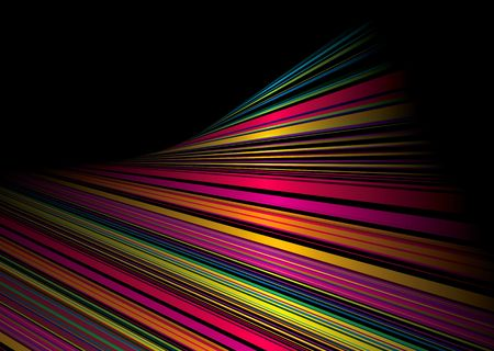 Black background with rainbow twisted effect and copy space photo