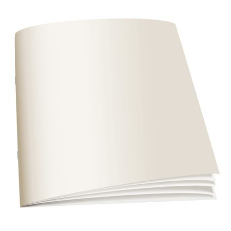 Illustrated paper back book with fan pages and shadow Stock Photo - 7079130