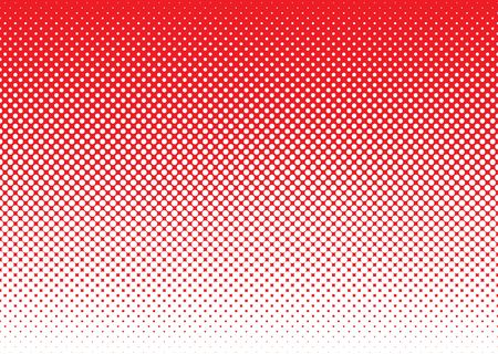 dotted background: Red background with white halftone dot gradient concept Stock Photo