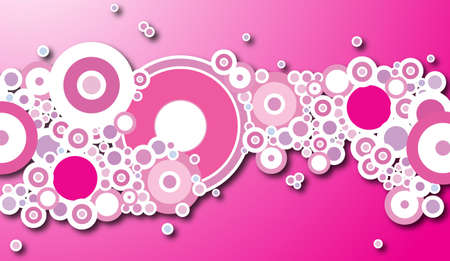based: A design based around a magenta and circular theme Stock Photo