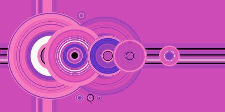 crop circle: A vector pink crop circle vector design Stock Photo