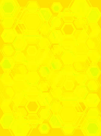 bias: An abstract background with hexagones with a yellow bias