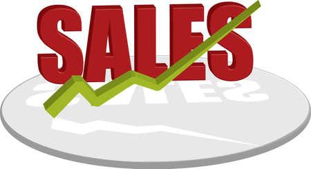 illustrates: A logo style image that illustrates the sales Stock Photo