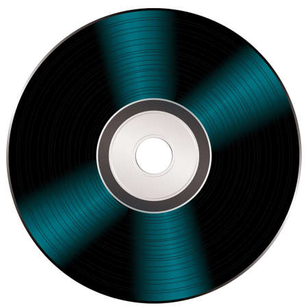 cdr: Light reflecting on a black music or video compact disc Stock Photo