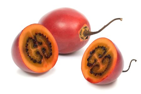 tamarillo: Tamarillo. Image series of fresh vegetables and fruits on white background