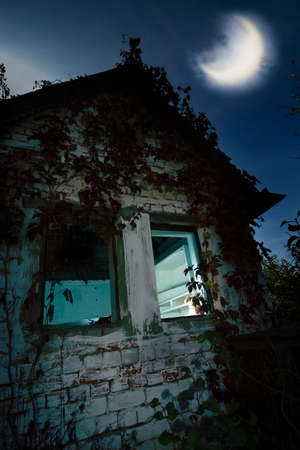 broken house: Image of Haunted house - good background for  cards Stock Photo