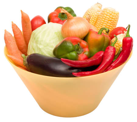 glut: lots of fresh and ripe vegetables in the bowl