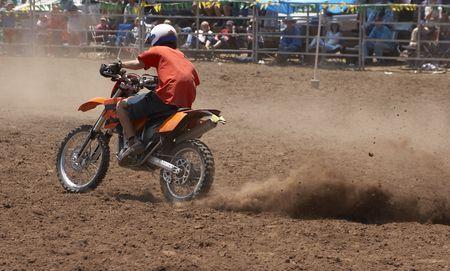 trail bike: Trail Bike In The Dirt Stock Photo