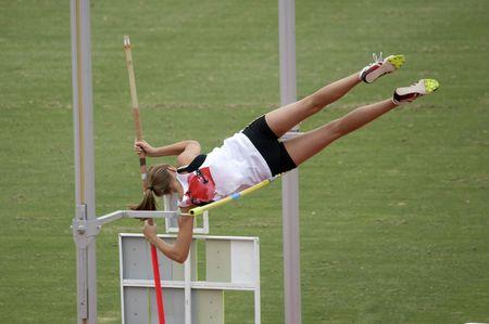 Female Pole Vaulter photo