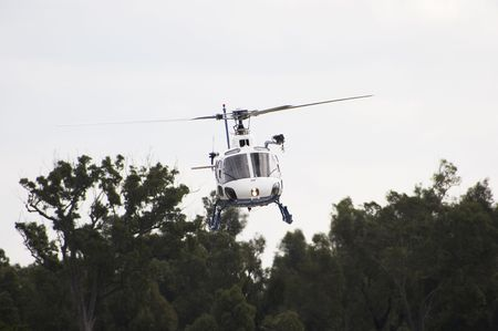 on the skids: Squirrel Helicopter