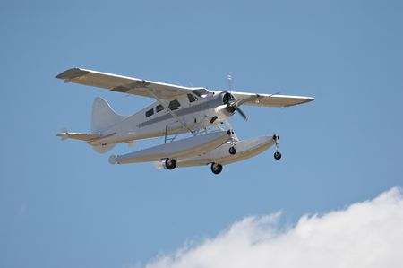 the amphibious: Amphibious landing aircraft in flight Stock Photo