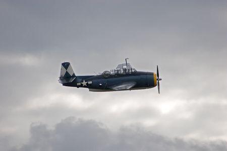 vengador: Un TBM Avenger-3R en vuelo