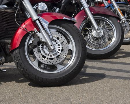 ciclos: Las ruedas delanteras de las motocicletas