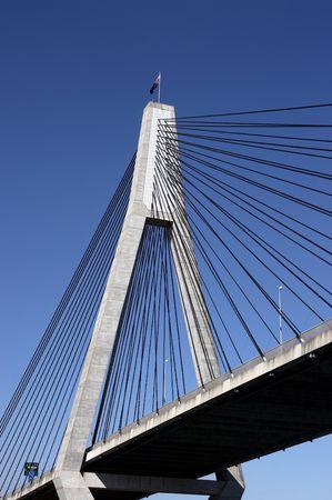 anzac: Anzac bridge pylon and cables