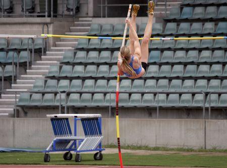 Female pole vaulter Stock Photo - 1150766