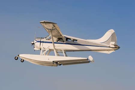 A Beaver Seaplane in the air