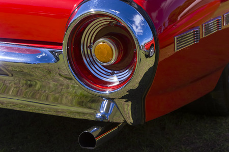 blinkers: Rear tail light of a vehicle