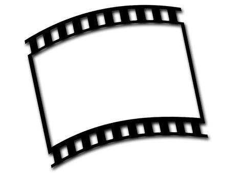 mm: Illustration of 35 mm film Stock Photo