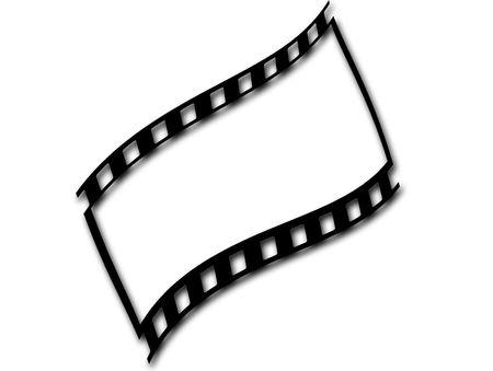 Illustration of 35 mm film Stock Photo