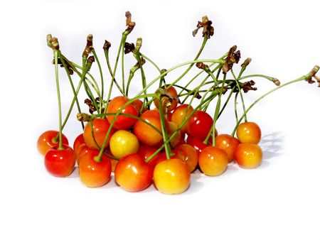 cherries isolated: cherries isolated on white Stock Photo