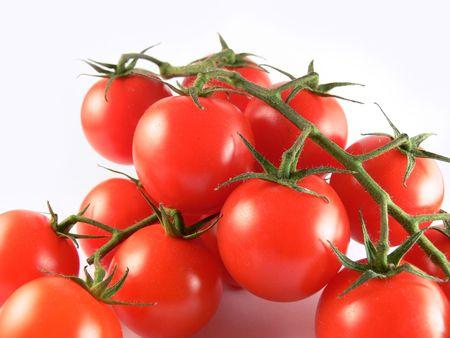 Close up bunch tomatoe