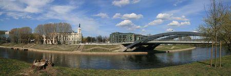 Panorama city Vilnius, capital of Lithuania