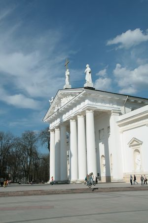 detai: Lithuania, Vilnius,Cathedral Place in a sunny day