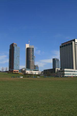 build in: Modern skyscraper build in capital Lithuania city Vilnius