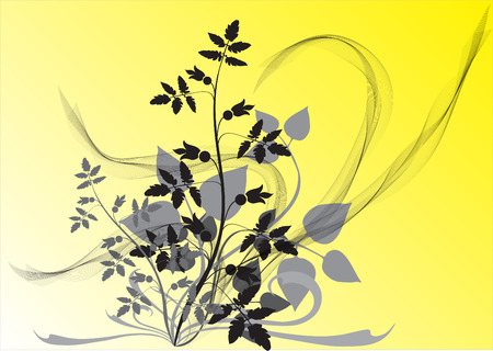 Abstract flowers design background. Vector illustration Stock Vector - 1599838