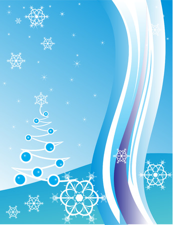 Christmas background with white snowflakes. Vector illustration Stock Vector - 2111962