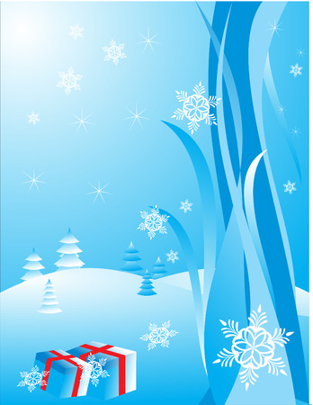 Christmas background with white snowflakes. Vector illustration Vector