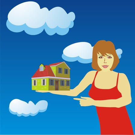 representatives: An illustration concept showing new home models for sale