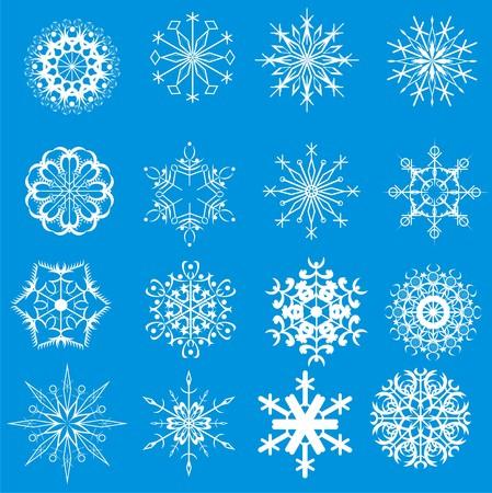 White christmas snowflake on blue Vector