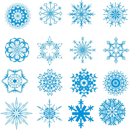 Christmas snowflakes on white background Vector