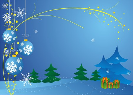 Abstract Christmas background vector Stock Vector - 3938469