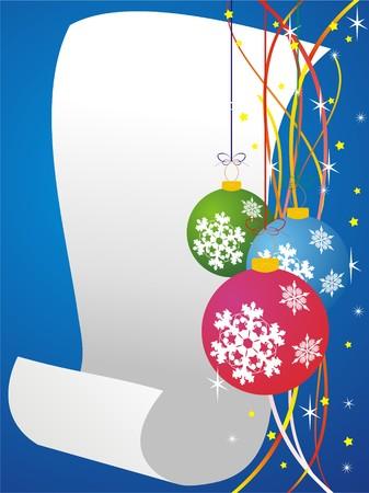 christmas card background, vector illustration Vector