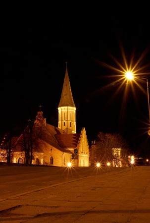 accession: Vytautas the Great Church of the Accession of The Holy Virgin Mary (Lithuanian: Vytauto Did�iojo ba�ny�ia) is a Roman Catholic church in Kaunas, Lithuania, and is one of the oldest churches in the city.