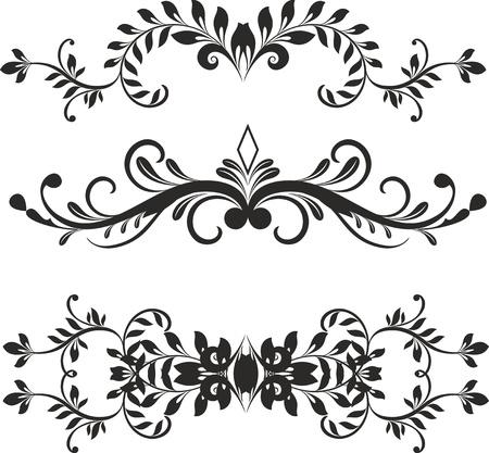 floral ornament: Floral design elements vector Illustration