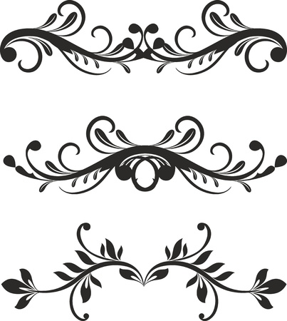 Floral design elements vector Stock Vector - 11207875