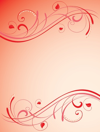 ellements: Valentines background with floristical design ellements. You can add your text