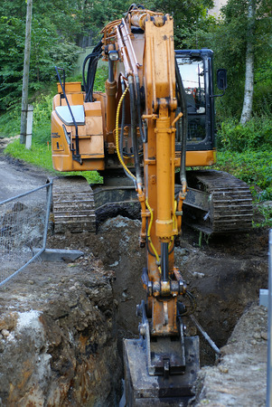 road construction tractor excavator shovel grader Stock Photo - 1512035